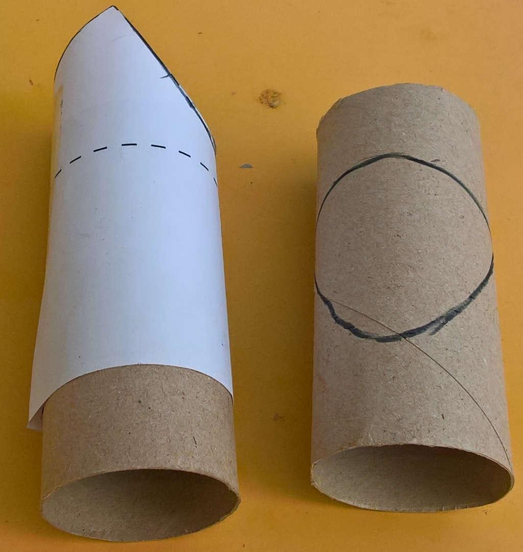 Préparation de la découpe de tube pour faire un T avec plus ou moins d'angle